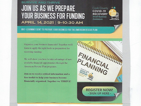 Webinar on Small Business Financial Support & Other Resources