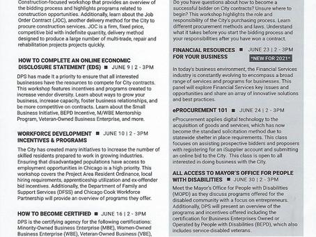DPS June 2021 Workshop Schedule
