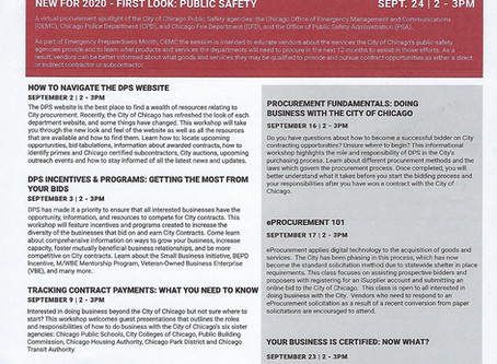 DPS September 2020 Workshop Schedule