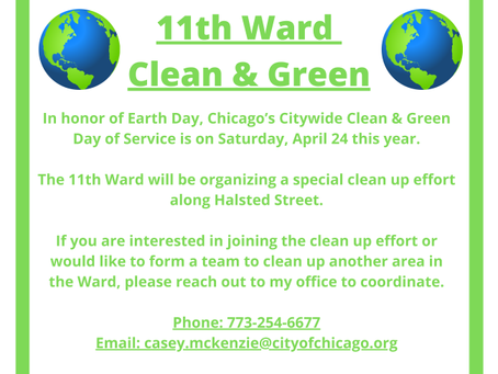 11th Ward Clean & Green Saturday, April 24