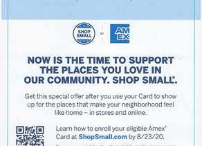 Enroll your eligible American Express Card and get rewarded when you Shop Small