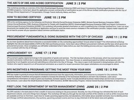 DPS June 2020 Workshops