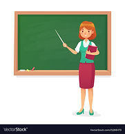 chalkboard-and-teacher-female-professor-