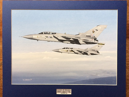 Mounted Original Gouache Painting depicting Tornado F.3's of 43 and 111 Squadron RAF Leuchars 1991