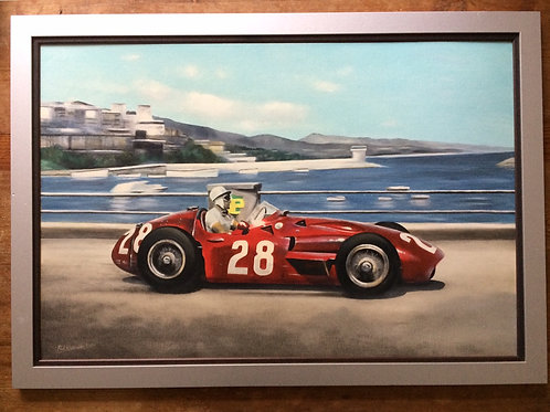 Sterling Moss Maserati 250F Original Oil Painting