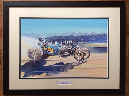 Framed Original Gouache Painting depicting Dave Stone in Tee-Rat