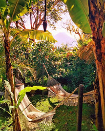 swinging hammocks, Lake Atitlan