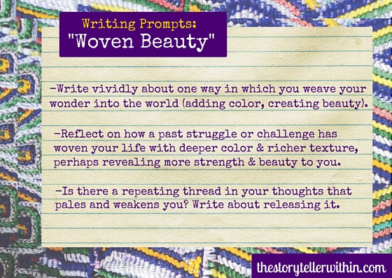 weaving-inspired writing prompts