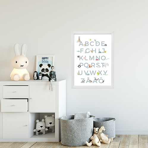 ABC - Digital artwork for childrens wall