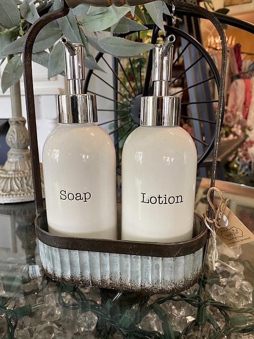 Soap & Lotion Holder Set