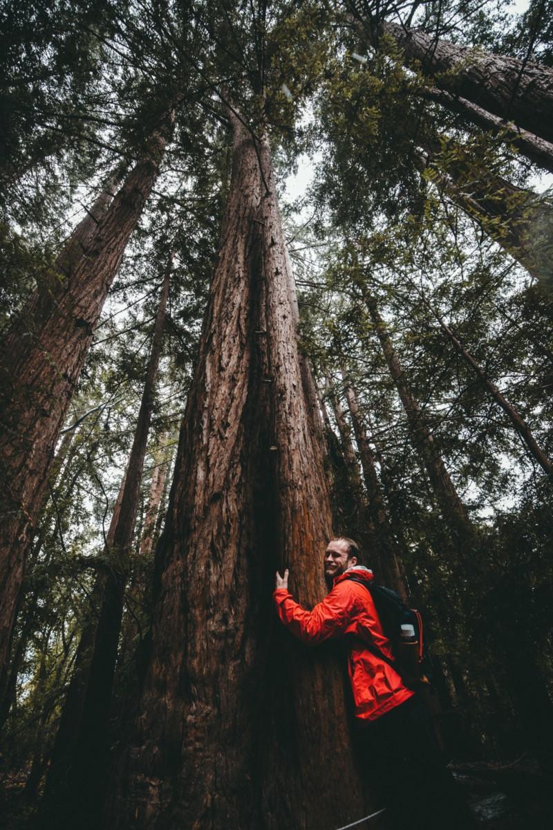 Zero waste activist in a forest