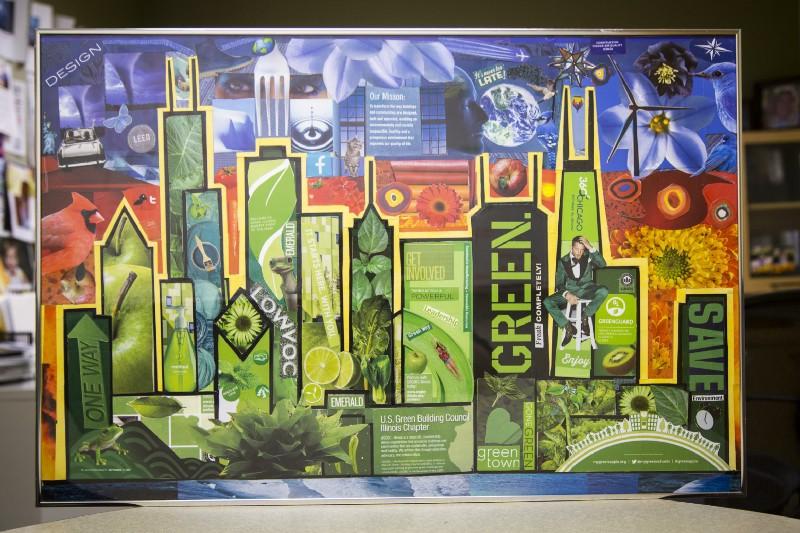 Green Chicago Art Piece