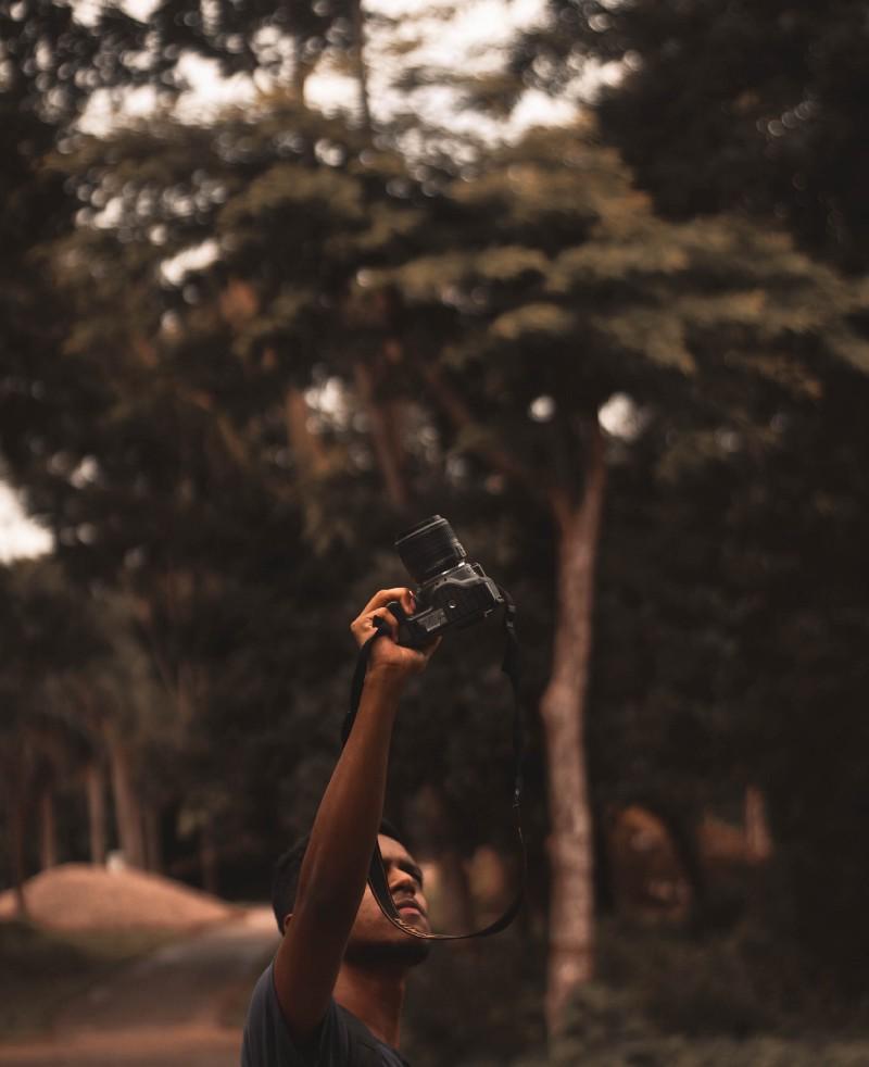 Activist taking pictures