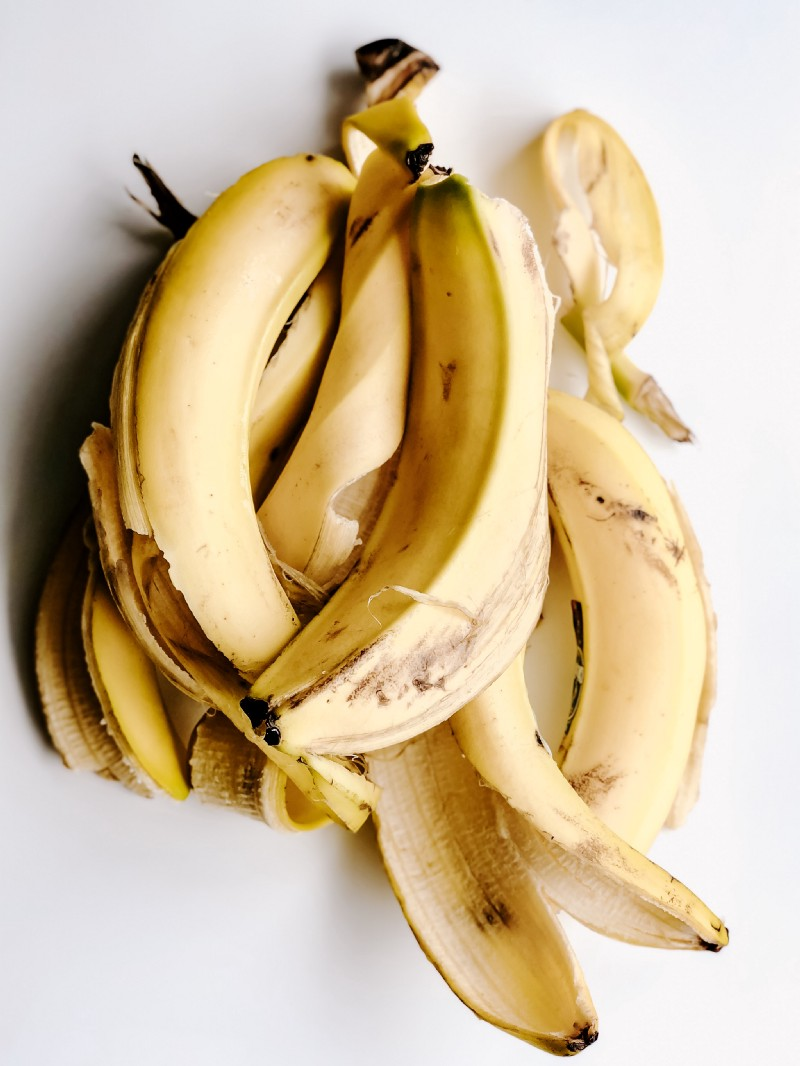 Banana peel pile