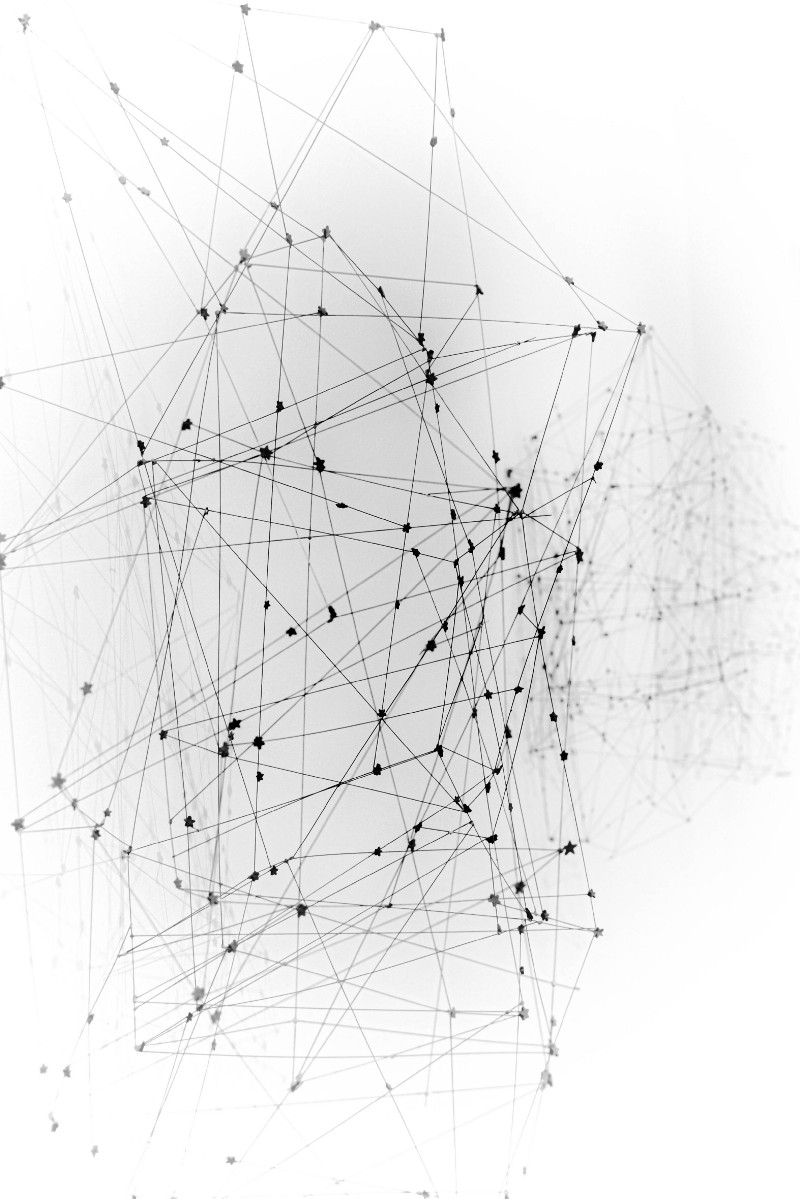Network model with strings
