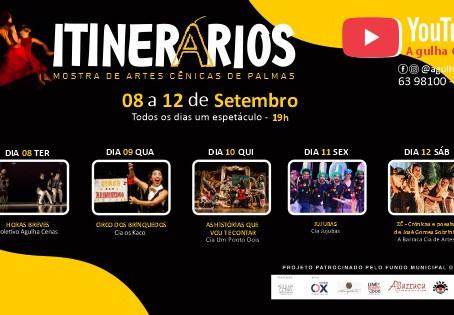 Em casa e de graça: Mostra de artes cênicas oferece espetáculos de grupos de Palmas
