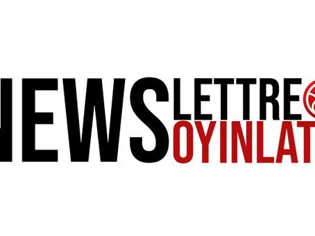 Inscription à la newsletter Ouverte !