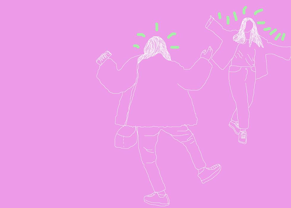 Yona & Kaitlyn Dancing!,  Photoshop