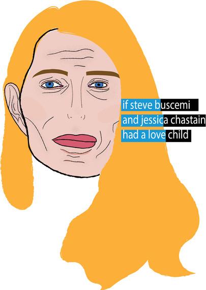 Steve Buscemi + Jessica Chastain. Love Child Series, Illustrator