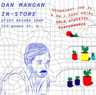 Dan Mangan Tiny Record Shop Poster, Illustrator