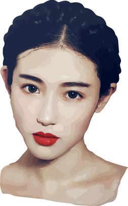 Xin Yuan Zhang. Realistic Vexel Painting, Illustrator