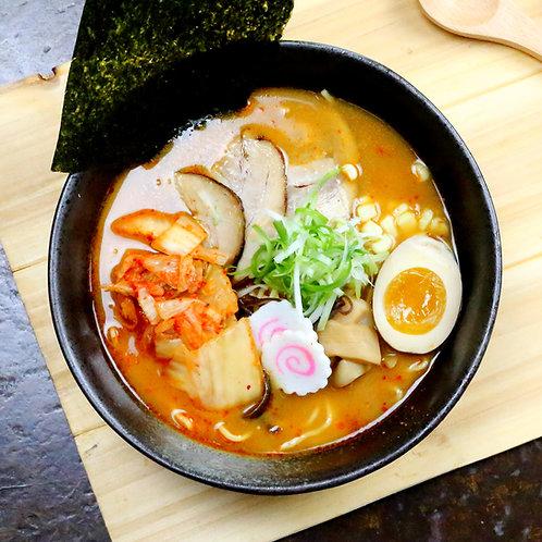 Japanese Spicy Kimchi Miso Ramen