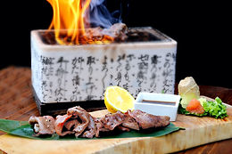 Black Angus center cut beef tongue tataki with truffle salt
