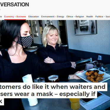 Prof Cobanoglu's research on the perception of wearing masks by service people are published!