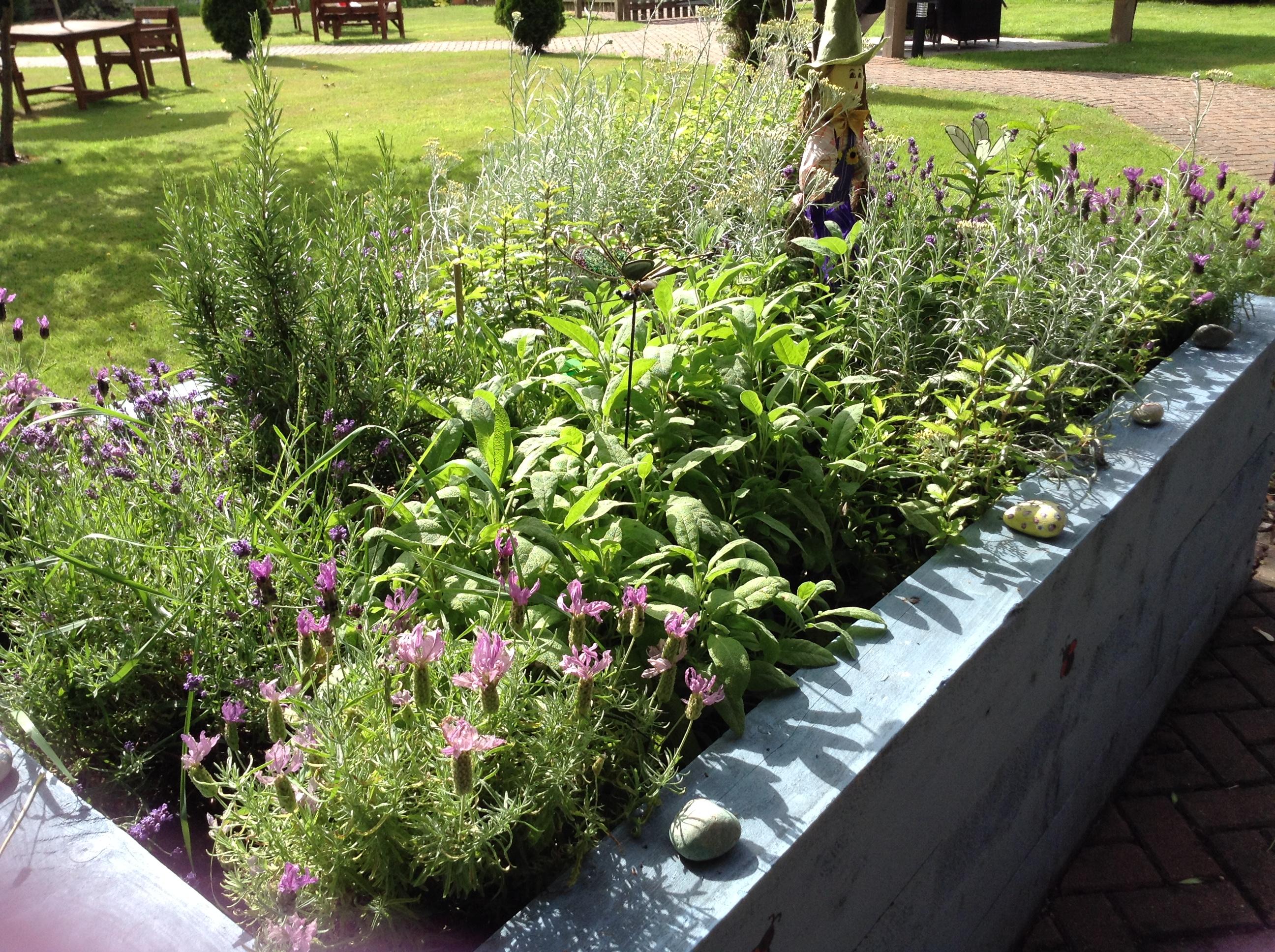 St Matthews wooden planter