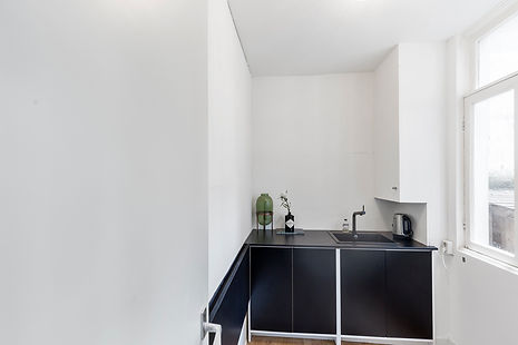 Keuken van vergaderlocatie Bloom Room