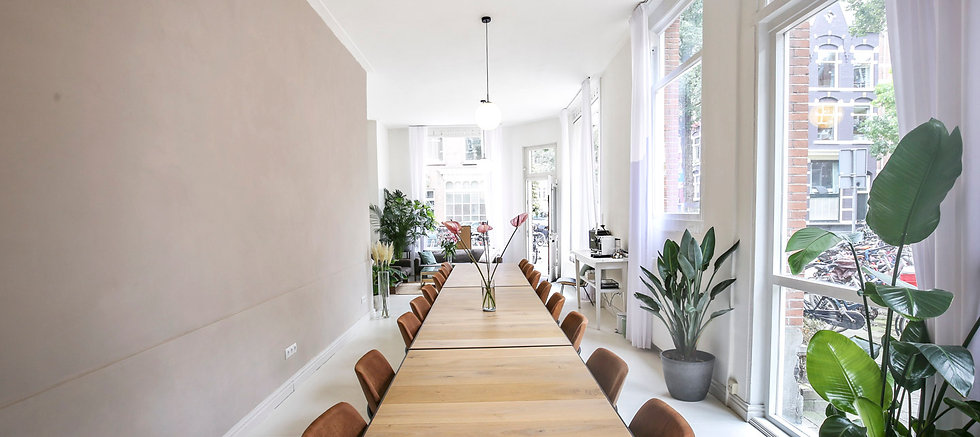 Inspirerende vergaderlocatie en meetingroom Amsterdam