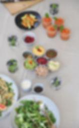 Gezond salade buffet