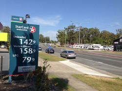 Example of fuel prices