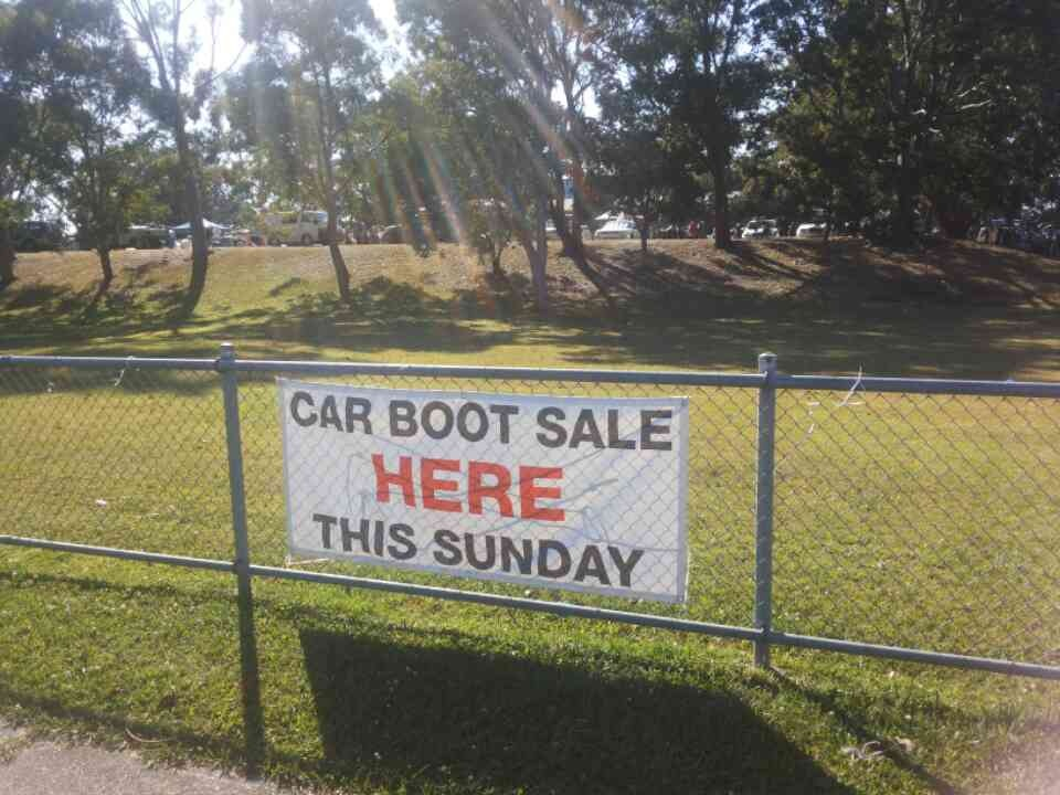 Car boot sale every Sunday