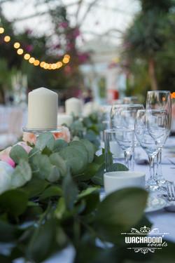 wedding eucalyptus top table