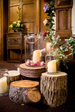 rustic log arrangement
