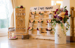 rustic pallet wedding table plan