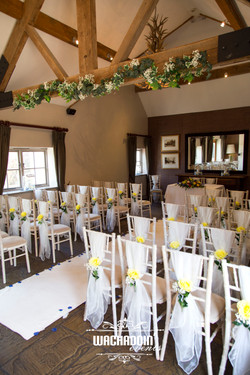 beautiful ceremony room styling