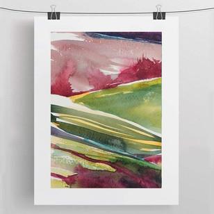 RESTLESS PINK / watercolour 30x40cm