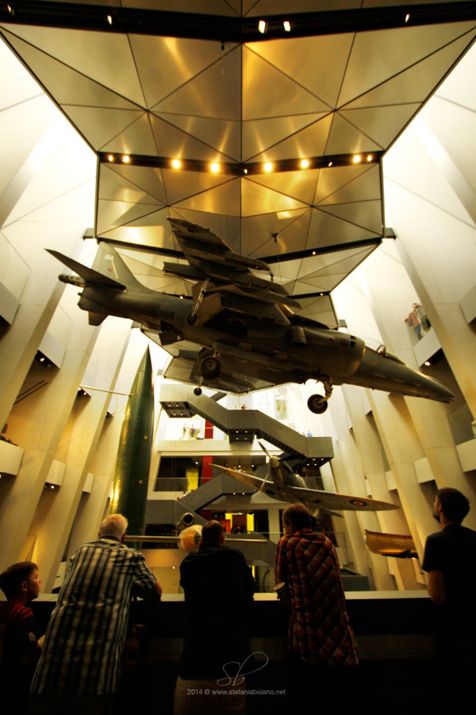 The central hall of the Imperial War Museums London