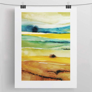 SUMMER IN TUSCANY / watercolour 50X70 cm