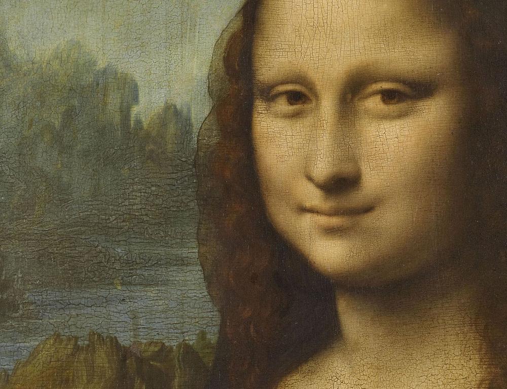close up of the Gioconda by Leonardo da Vinci