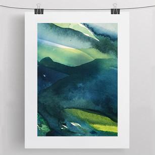 DEEP DOWN / watercolour 30x40cm