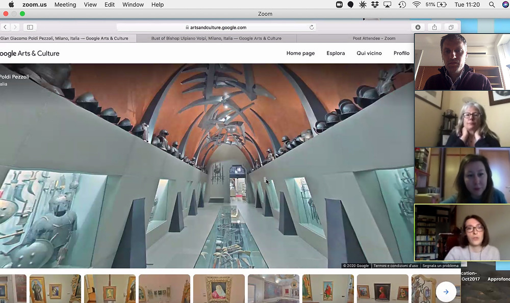 Trial test of our virtual tour at the Poldi Pezzoli Museum