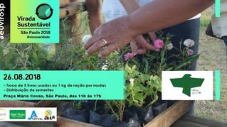 Virada Sustentável em SP: Canto Vivo participará com Feirinha de Trocas e distribuição de sementes