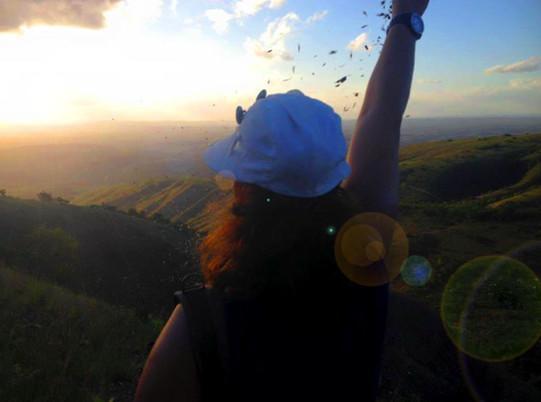 espalhando sementes ao viento nas serras verdes do nordeste do brasil