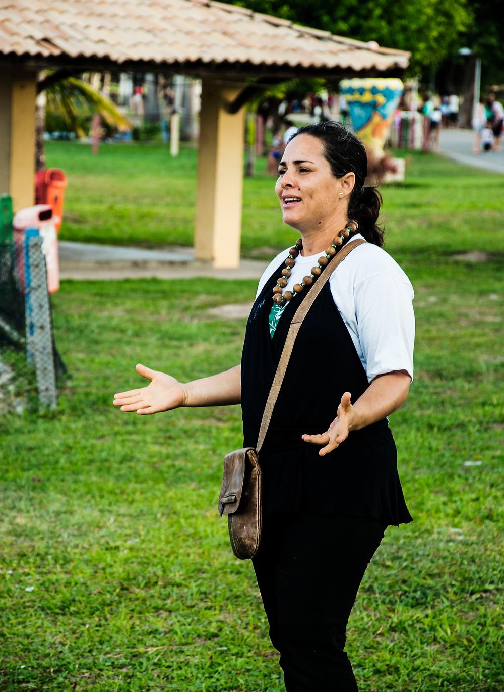 cristiane a diretora da ong ambientalista canto vivo no nordeste do brasil