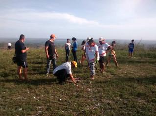Canto Vivo realiza plantio de 70 mudas na Serra de São José