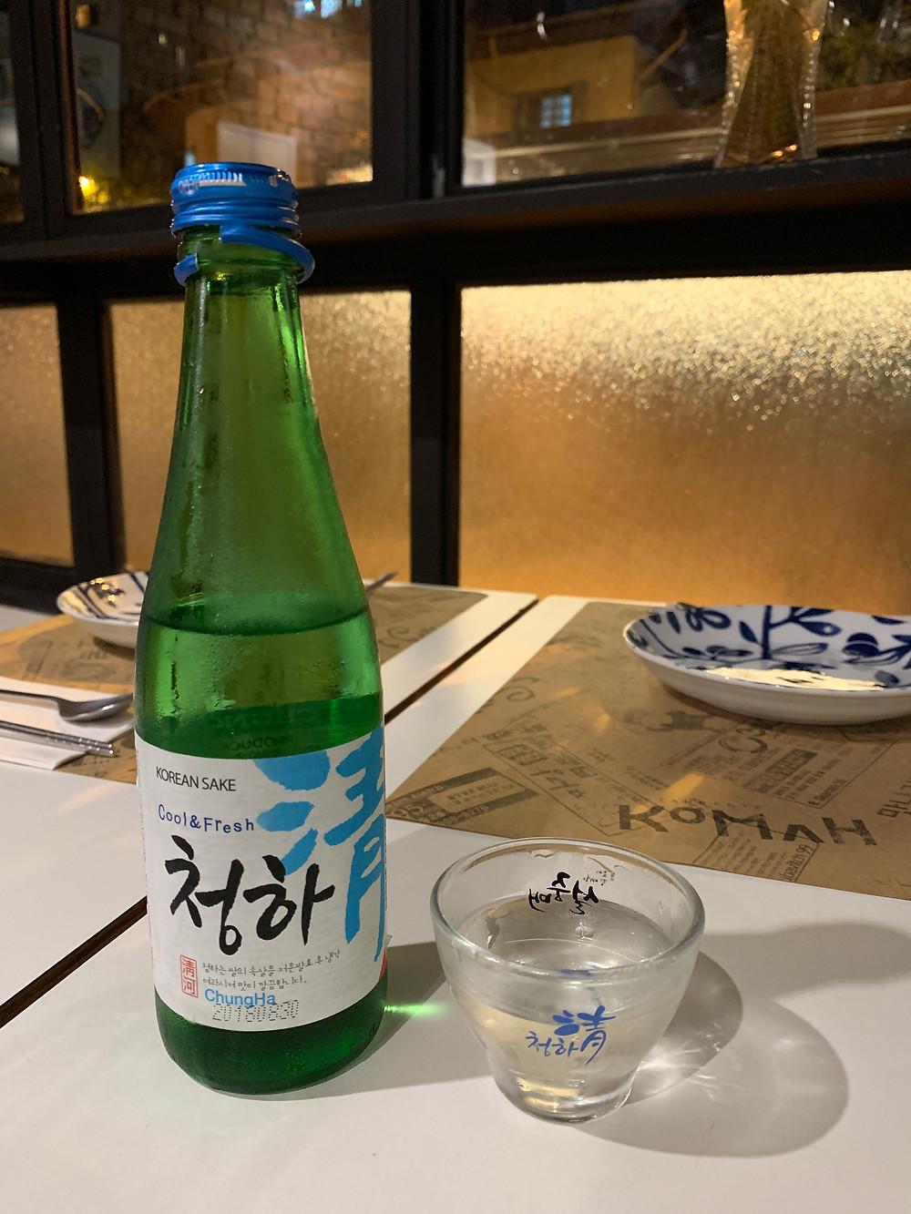 sakê coreano do restaurante kohma