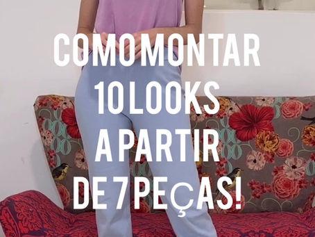 Como otimizar o guarda-roupa:10 looks com 7 peças
